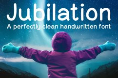 Jubilation Sans Serif Handwritten Font Product Image 1