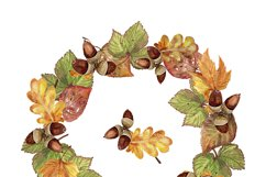 Autumn leaves, watercolor Product Image 4