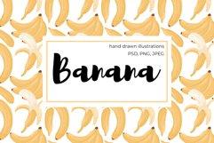 Banana hand drawn clip art Product Image 1