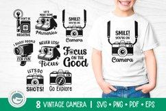 Camera SVG Cut Files Bundle Product Image 1