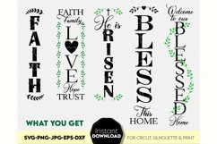 Porch sign SVG, Christian welcome sign SVG, Faith svg, Bless Product Image 2