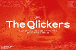 The Qlickers - Casual Sans Serif Font Product Image 1