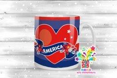 4th July Mug Sublimation Designs #2 Product Image 1