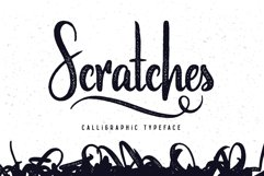 Scratches calligraphic font Product Image 1