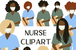 Nurse clipart, Doctor clipart, Medical clipart Product Image 1