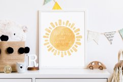 Watercolor Sun PRINT, Nursery Wall Art, Scripture Verse Art Product Image 3