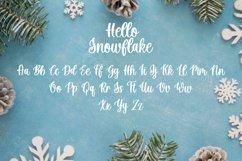 Hello Snowflake - a script winter font Product Image 9