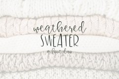 Weathered Sweater - A Font Duo Product Image 1