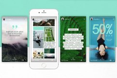 Mint   Instagram  stories templates Product Image 4