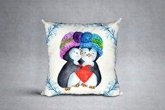 Cute Watercolor Penguins clipart Product Image 2