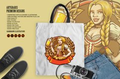 Beautiful Beer Girl Mascot Badge SVG Illustrations Product Image 5