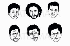 Face Set A - SVG/JPG/PNG Hand Drawing Product Image 1