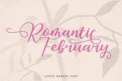 Romantic February - Lovely Romantic Font Product Image 1