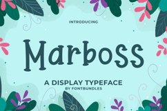 Web Font Marboss Product Image 1
