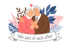 Caring elderly couple Product Image 1