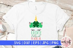 Lucky pretty and magical - St. Patrick's Day SVG EPS DXF PNG Product Image 1