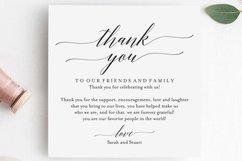 Wedding Thank You Card, Thank You Printable, Wedding Table Product Image 2