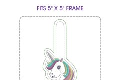 Unicorn Head Keyfob In the Hoop ITH Design Product Image 6