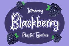 Blackberry - Playful Typeface Product Image 1
