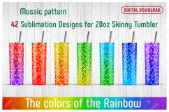42 Mosaic Patterns for 20oz SKINNY TUMBLER. Product Image 1