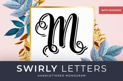 Swirly Letters - Handlettered Monogram Product Image 1