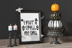 Witchcraft and Wizardry A Fun Halloween Font With Doodles Product Image 2