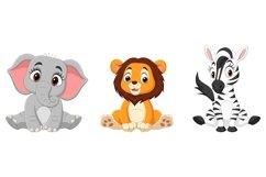 Set of Nine Cartoon Baby Animal Bundle Product Image 4