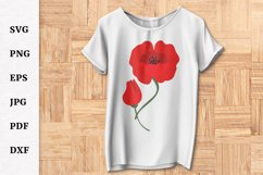 Remembrance Day Poppy Flower SVG Design Cut file Product Image 4