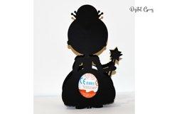 Princess Easter egg holder design SVG / DXF / EPS files. Product Image 3