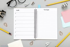 Undated montly and weekly planner's sheets. Simple dotted A5 Product Image 5