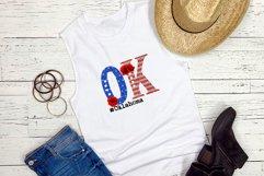 State abbreviation. USA sublimation. Oklahoma Product Image 2