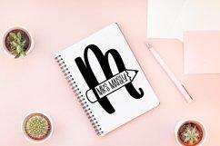 Teacher Pencil Monogram Split Font Product Image 2