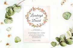 Modern Floral Wedding Invitation Template Product Image 3