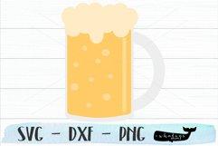 Beer Mug Clip Art - Silhouette and Cricut Cut File Product Image 1