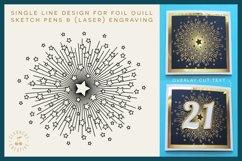 Foil Quill STARBURST single line sketch design SVG file Product Image 1