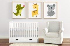Cute baby animals safari. Sublimation animals. Animal png Product Image 3