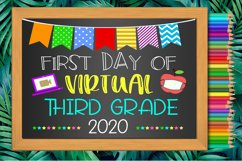 First Day Virtual Third Grade Sign- First Day of Third Grade Product Image 2