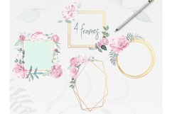 Peonies Clipart Watercolor Set Product Image 3
