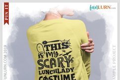 This is My Scary Lunch Lady Costume SVG Cut File Product Image 3