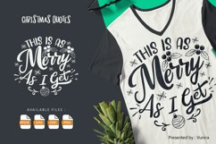 This Is As Merry As I Get   Lettering Quotes Product Image 1