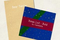 Xmas List Bold - A festive Christmas sans serif font ! Product Image 4