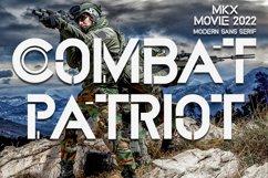Combat Patriot - Military Sans Serif Font Product Image 1