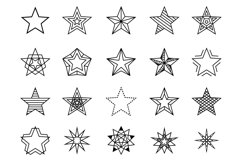 Linear stars vector set Product Image 1
