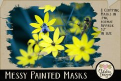 Clipping Masks - Messy Painted Photo Masks & Tutorial Product Image 2