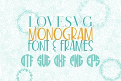 LoveSVG Monogram Font and Frames Product Image 1