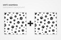 Paw Prints Seamless Patterns Product Image 4