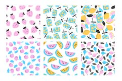 10 seamless summer patterns, 10 banners Product Image 9