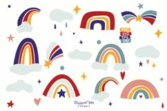 Unicorn and Rainbow Clipart, SVG, PNG, DXF, EPS Product Image 4