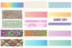 Notepapers, Pins, Paper Clips, Washi Tape Etc. Clip Art Product Image 2