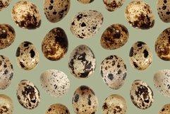 Quail eggs bird food kitchen photo seamless pattern texture Product Image 1